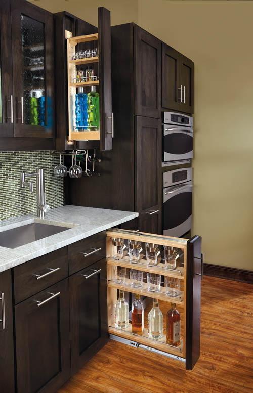 Filler Pullout Organizer With Wood Adjustable Shelves Sink